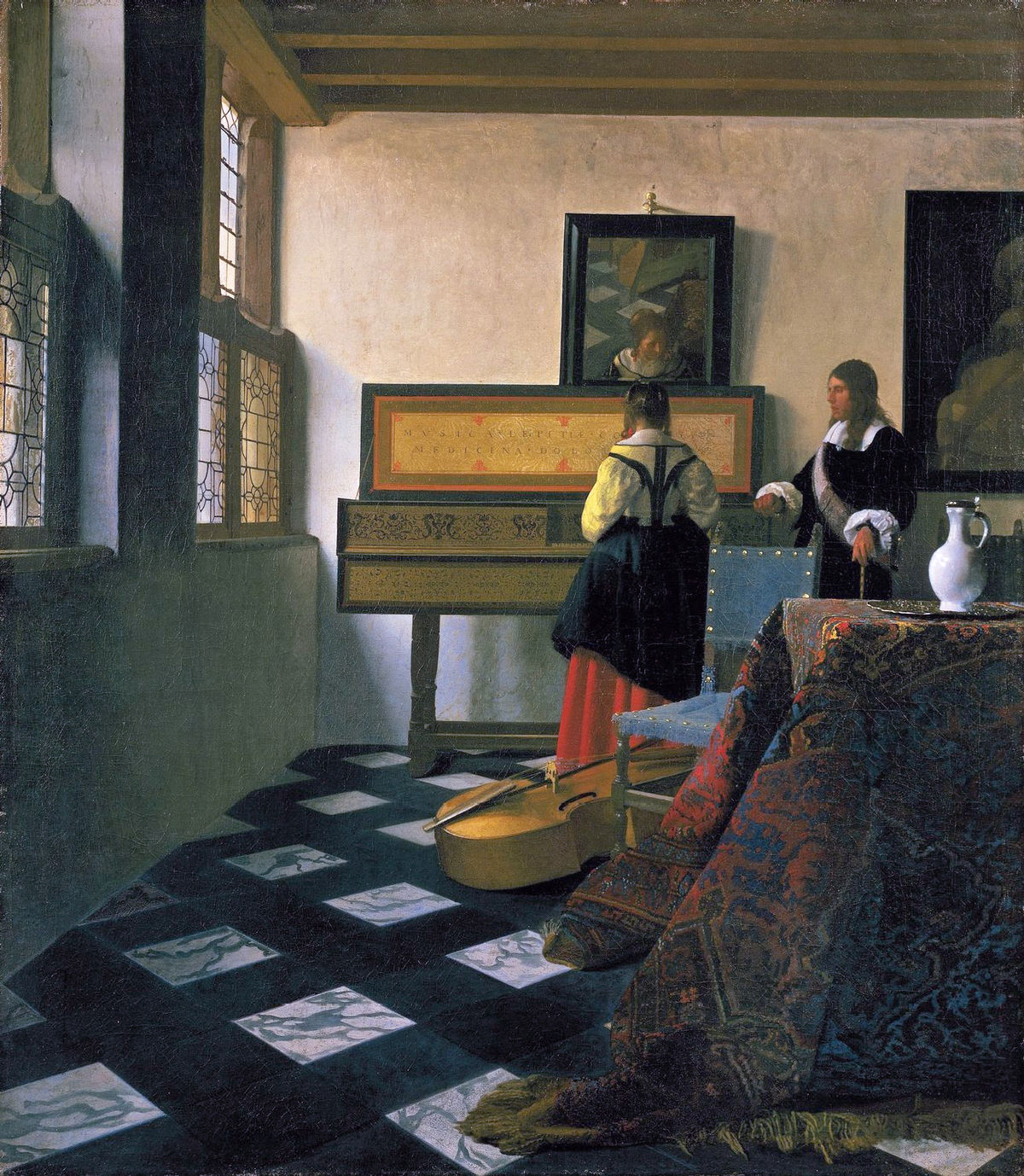 Jan Vermeer - The Music Lesson 1665